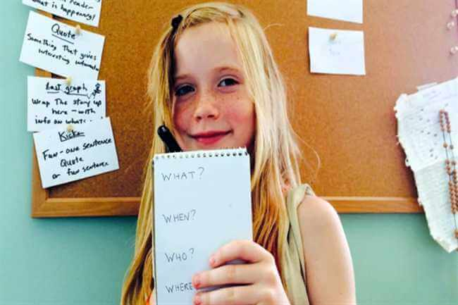 9 Years Old Girl Publishes Her Own NewsPaper