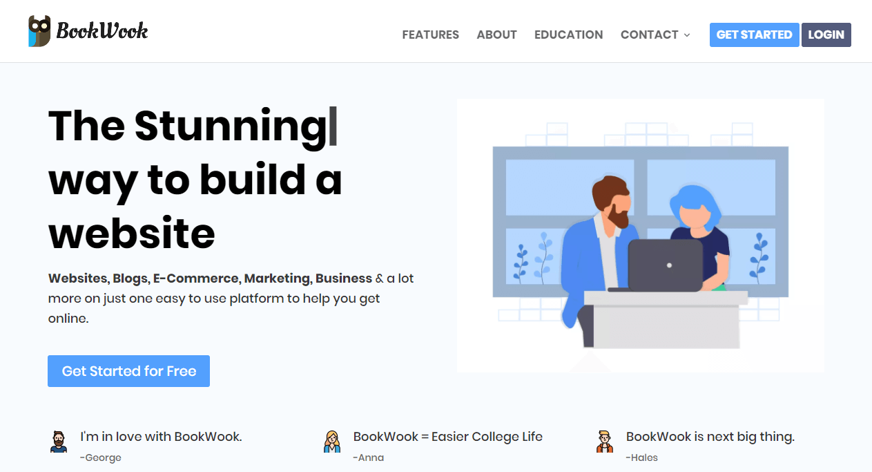 BookWook: Online Learning, Blogging and Building Store for Student