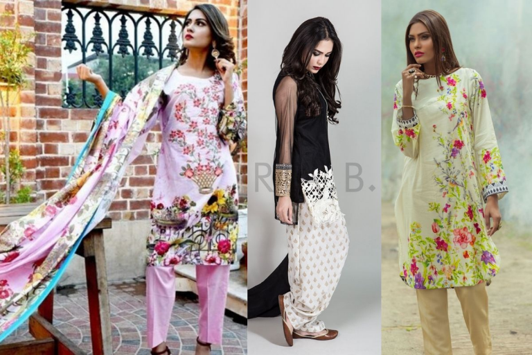 Pakistani Lawn Suits Summer Collection 2020 | Lawn Suit Designs