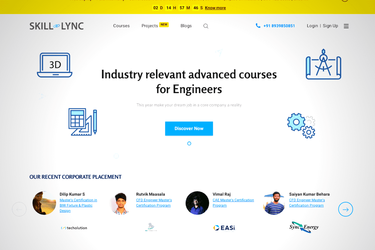 Skill-Lync: E-learning Platform for Revolutionize Engineering Education